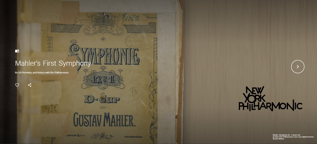 The cover of Mahler's Symphony No. 1 score