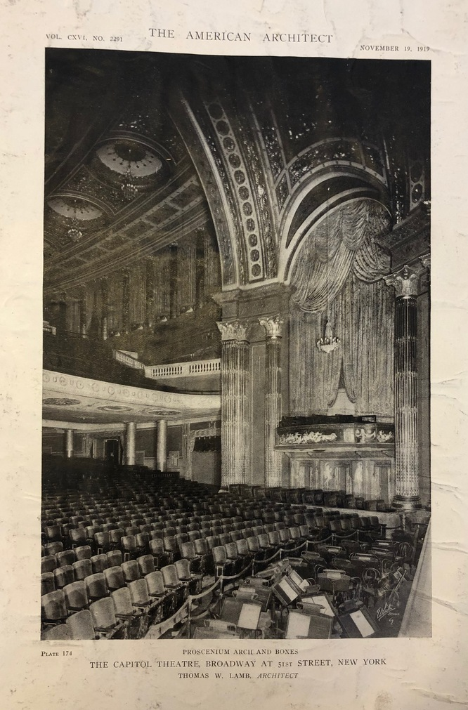 The Capitol Theatre, 1919