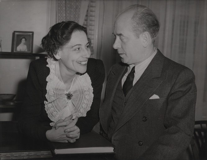 Photograph of Steffy Goldner and Eugene Ormandy