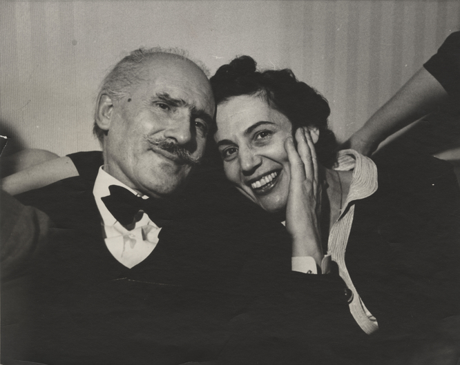 Photograph of Arturo Toscanini & Steffy Goldner