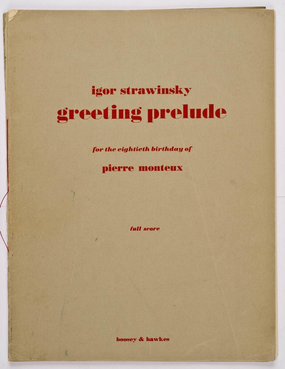 Stravinsky Igor Greeting Prelude Id 2329